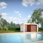 Choisir un pool house pour sa piscine privée, il sera placé en 1 jour !