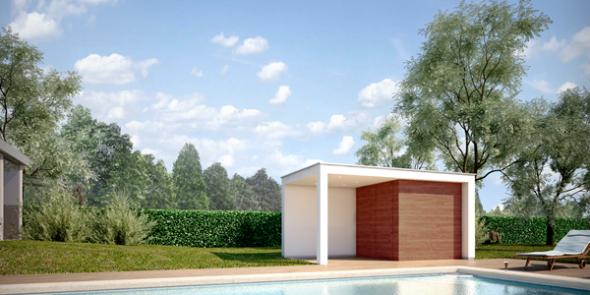 Een pool house kiezen voor uw privé zwembad