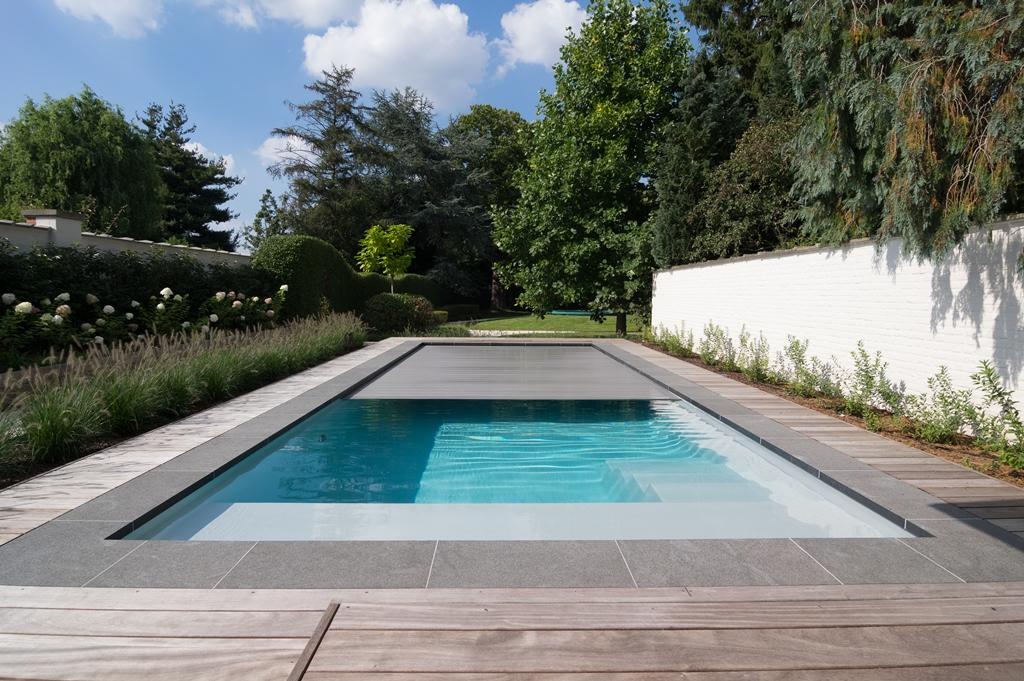 Houten zwembadrand